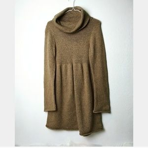 Old Navy M cowl neck brown Sweater dress